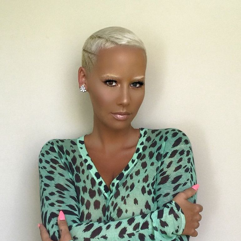 Surprising Amber Rose New Hairstyle My Real Style Short Hairstyles For Black Women Fulllsitofus