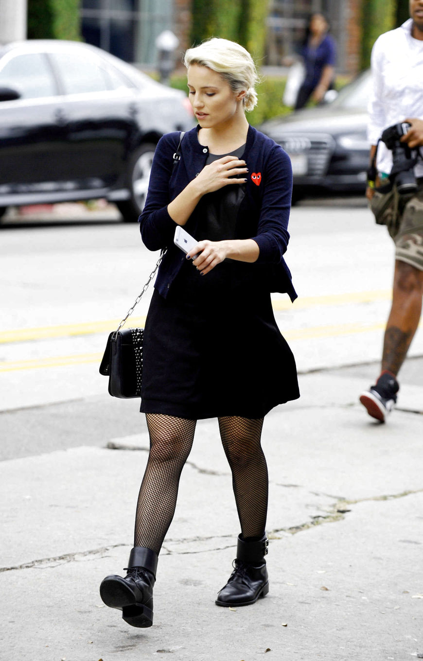 Awesome Dianna Agron Street Style  Leaving A Restaurant In Los Angeles