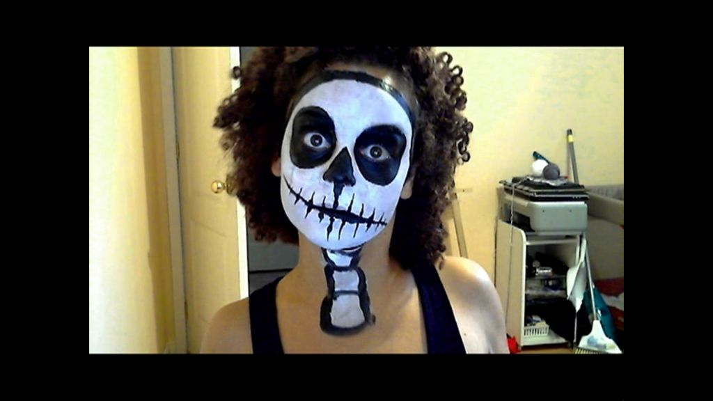 face painting designs skeleton