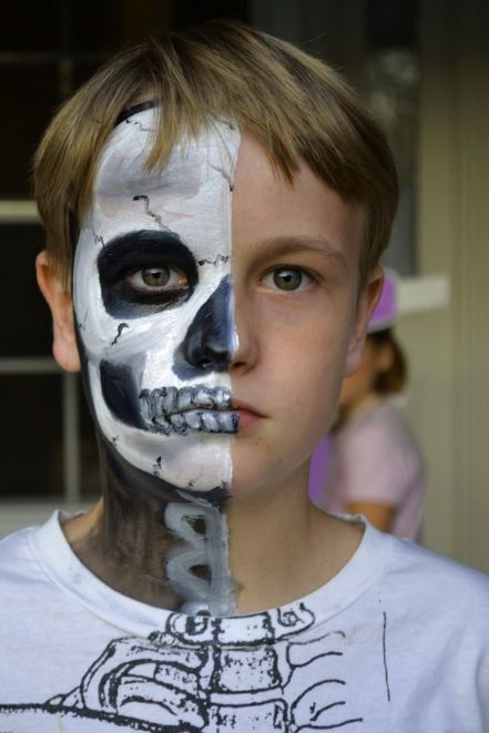 face painting ideas for skeleton