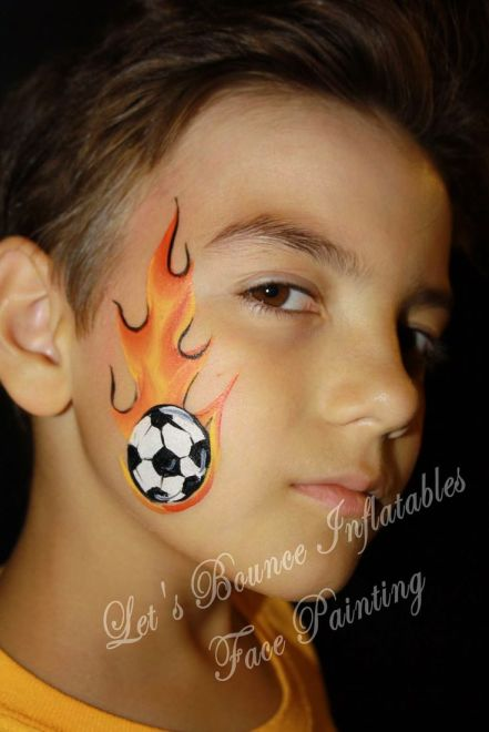 face painting designs soccer ball